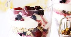 Swear an oat of allegiance to this easy-to-make, versatile yoghurt and muesli parfait.
