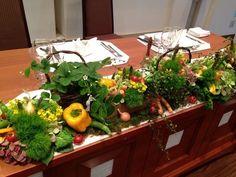 フルーツや野菜を使ったコーディネート