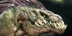 Dinosaur Art Contest Winner Announced! Trent Taft's Blue Raptor takes the top spot in our forum art challenge to celebrate Jurassic June! Alien Creatures, Fantasy Creatures, Mythical Creatures, Fantasy Dragon, Dragon Art, Fantasy Art, Dragon Head, Dinosaur Games, Dinosaur Art