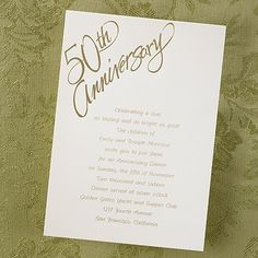 Celebrating Our Love 50th Anniversary Invitation http://partyblock.carlsoncraft.com/Parties--Celebrations/Anniversary-Invitations/NB-NB1535-Celebrating-Our-Love--Invitation.pro
