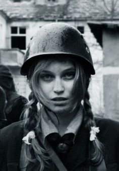 German girl in the Army German Girls, German Women, Military Women, Military Fashion, Caucasian Race, Soldier Helmet, Photo Recreation, German People, Cute White Boys