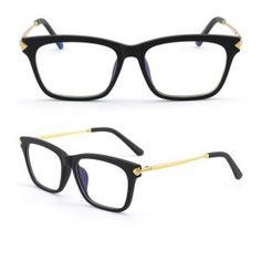 Odľahčené pánske okuliare na počítač s flexibilným zlato-čiernym rámom Sunglasses, Sunnies, Shades, Eyeglasses, Glasses