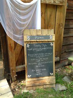 Menu on bar door #mountgulian #mountgulianwedding #barnwedding #wedding #rusticwedding #hudsonvalleywedding #weddingideas