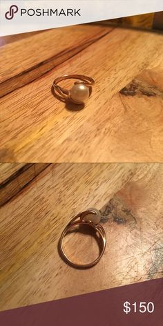 Selling this Pearl and gold ring on Poshmark! My username is: khschott. #shopmycloset #poshmark #fashion #shopping #style #forsale #Jewelry