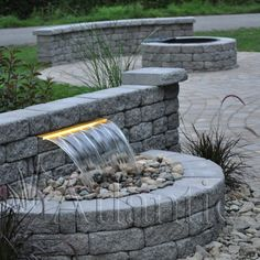15 Exciting Water Feature for The Yard Landscaping - Page 2 of 8 Modern Backyard, Ponds Backyard, Garden Pool, Backyard Ideas, Pond Landscaping, Landscaping With Rocks, Outdoor Waterfalls, Garden Waterfall, Waterfall Design
