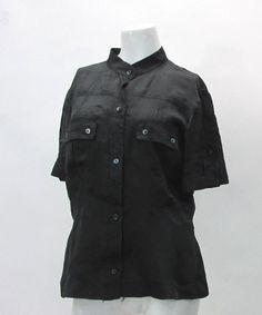 Balenciaga Paris Black Cargo Blouse in Black Size 42 100 Rayon Made in Italy | eBay