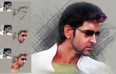 #HrithikRoshan #actor #bollywood #photoshop #painting Digital Paintings, Hrithik Roshan, Bollywood, Photoshop, Actresses, Actors, Art, Female Actresses, Art Background