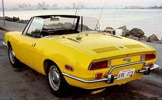 Fiat 850 Spider   This is the car i learned to drive on