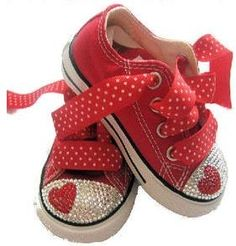 a6832fac81a1 Swarovski Rhinestone Heart Converse Sneakers For Kids. This is a special  converse shoe. Has no lace