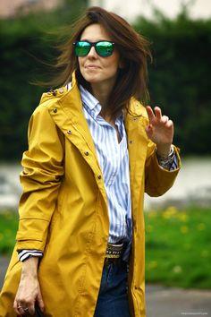 HendayeStyle  yellow raincoat  kissmylook  RaincoatsForWomenWeather Yellow  Rain Jacket 4bfd9572d9
