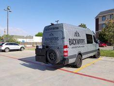 Backwoods Adventure Mods Rear Bumper - Coming Soon! Sprinter Van Conversion, Camper Van Conversion Diy, Benz Sprinter, Mercedes Sprinter, Van Signage, Bull Bar, Hybrid Design, Bus Life, Cargo Van