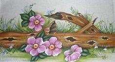Pintura em Tecido Flores Pedacinho de Natureza - Pintura em Tecido Passo a Passo Com Fotos