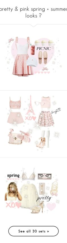 """pretty & pink spring + summer looks ♡"" by fiftiesprincess on Polyvore featuring beauty, La Revêche, Martha Medeiros, Dune, Ted Baker, Charlotte Russe, Topshop, Ace, Prada and STELLA McCARTNEY"