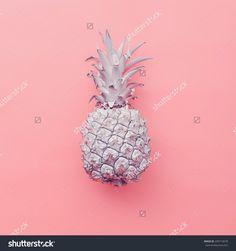 Fashion fake Pineapple on pink background. Minimal style
