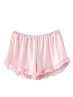 1ef7c626fbff Women Cute Elastic Ruffles Loose Multi Color Sport Shorts
