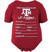 Texas A&M Aggies Newborn Welcome to the World Creeper - Maroon
