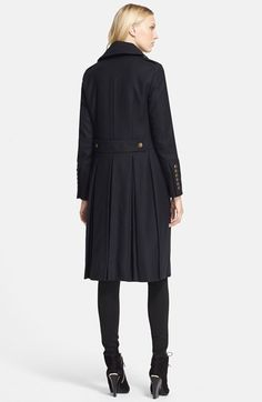 Burberry London 'Melbridge' Double Breasted Long Coat