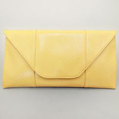 Lemon Yellow Lovely Pattern Clutch Bag / 199311