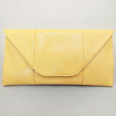 Lemon Yellow Lovely Pattern Clutch Bag / 199311
