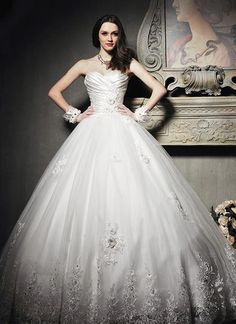 $167.28 Dresswe.comサプライ品エレガントなアップリケの恋人の夜会服の裁判所の列車のウェディングドレス