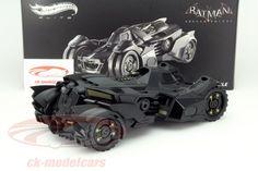 CK-Modelcars - BLY23: Batmobile Batman Arkham Knight 2015 matt schwarz 1:18 HotWheels Elite, EAN 746775375331
