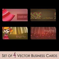 fashion illustrator business card 02 vector