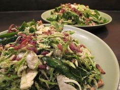 Warm Spinach and Brussel Sprout Salad.
