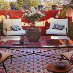 Encaustic tile patio