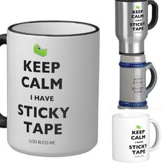 You can never overestimate the importance of sticky tape in an emergency. These mugs can help reassure people that if anything happens thing will be ok - you have Th
