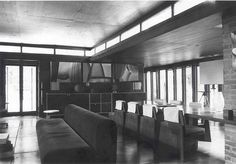 Goetsch-Winckler House. 1940, Okemos, Michigan. Frank Lloyd Wright. Usonian Home