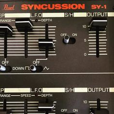 Pearl Syncussion: still my favourite drum synth...