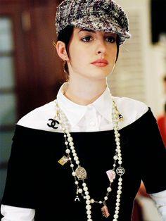 Anne Hathaway as Andy Sachs in The Devil Wears Prada