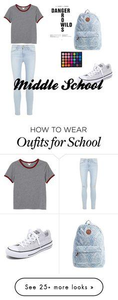 Jeans claros Blusa gris basic Converses blancos