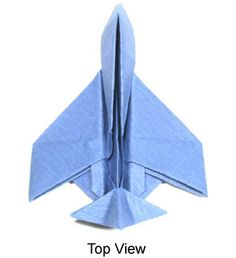 "Origami Jet Plane Instructions - ""Just PLANE awesome!""  valentines"