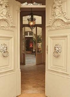 411715d2833e5 The Laurel Hedge  Doors at La Mirande Hotel in Avignon