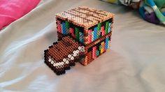 Minecraft Book and Bookshelf perler beads by ALittleKajira on deviantART