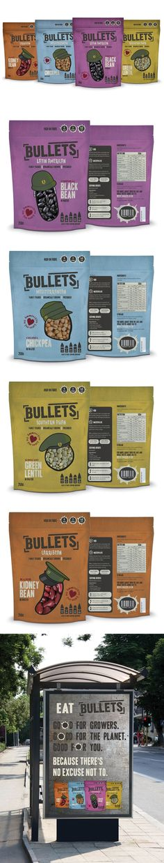 Bullet Beans...Great packaging.  Love the matte look of the plastic with this muted colors.