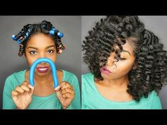 "Try The ""Horse Shoe Method"" The Next Time You Do A Flexi Rod Set - Black Hair Information"