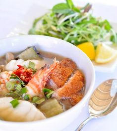 Fermented fish soup with vemicelli rice noodle