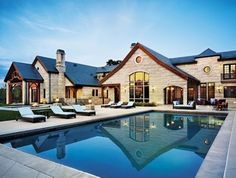 Transitional Stone Pool Deck