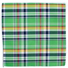 Green Plaid Pocket Square from King Kravate - The Neckwear Of Kings