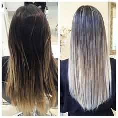 from brown to blonde using olaplex