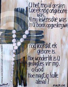 ... Psalms, Bible Scriptures, Bible Quotes, Afrikaans Quotes, Prayer Box, Christian Women, True Words, Prayers