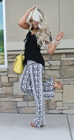 Gorgeous Printed Trousers with Black Top