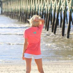 Authentic Logo in Coral Preppy Southern, Southern Marsh, Simply Southern, Pineapple Monogram, Marley Lilly, Preppy Style, Preppy Fashion, School Fashion, All About Fashion