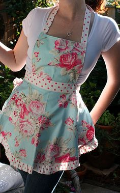 Aprons are back and they have beautiful ones....