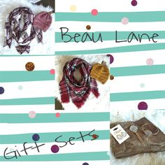 """Gift sets! Jewelry or Blanket Scarf with CC Beanie. Found under """"New Arrivals"""""""