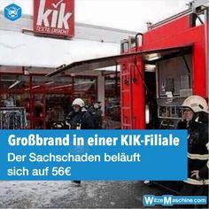 Großbrand bei KIK - Sachschaden 56 Euro - Witzig - Fail
