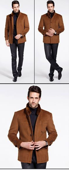 2014 new down jacket Wool casual jacket winter coat men jackets with fur collar warm thicken casaco masculino plus size 8358 | Express Imports By Rich Viers