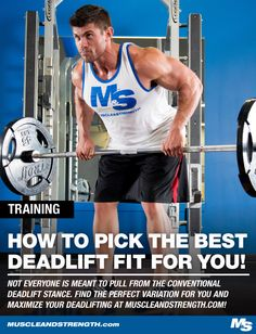 Not everyone is meant to pull from the conventional deadlift stance. Check out this article to find the perfect variation to maximize your deadlifting!